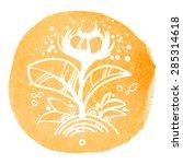 stylized flower of life | Shutterstock .eps vector #285314618