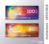 gift certificate voucher coupon ...   Shutterstock .eps vector #285315818