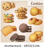 Cookies. Set Of Cartoon Vector...