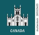 canadian gothic temple landmark ... | Shutterstock .eps vector #285325655