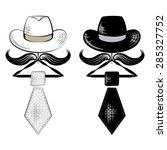 hat and tie | Shutterstock .eps vector #285327752