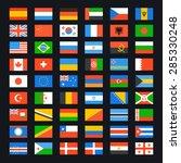 flag of world. vector icons set | Shutterstock .eps vector #285330248