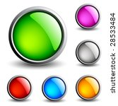 glossy web buttons. vector. | Shutterstock .eps vector #28533484