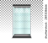 empty glass cabinet with... | Shutterstock .eps vector #285338666
