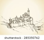 Stone Wall Romanesque Fort And...