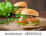 Sandwich With Chicken Burger ...