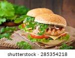 Sandwich With Chicken Burger ...