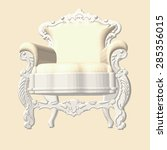soft antique chair | Shutterstock .eps vector #285356015