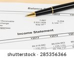 income statement financial... | Shutterstock . vector #285356366