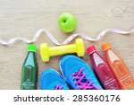 set for sports activities and... | Shutterstock . vector #285360176