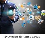 social media concept.  | Shutterstock . vector #285362438