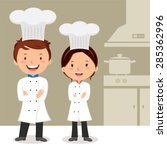 young professional chefs....