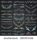 set of hand drawn doodle design ... | Shutterstock .eps vector #285391436