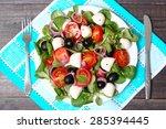 greek salad | Shutterstock . vector #285394445