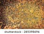 abstract vintage dirty iron red ... | Shutterstock . vector #285398696