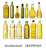 Olive Oil Bottles Isolated On...