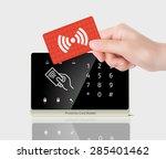 access control   proximity card ... | Shutterstock .eps vector #285401462