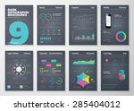 infographic set with colorful...   Shutterstock .eps vector #285404012