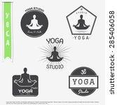 yoga studio  fitness and...   Shutterstock .eps vector #285406058