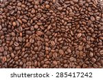 coffee beans background | Shutterstock . vector #285417242