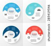 vector circle arrows... | Shutterstock .eps vector #285419546