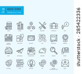 thin line icons set. universal... | Shutterstock .eps vector #285422336