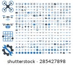 365 air drone and quadcopter... | Shutterstock .eps vector #285427898