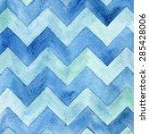 geometric watercolor chevron... | Shutterstock .eps vector #285428006