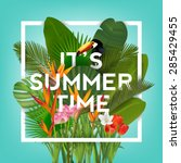 it's summer time typographical... | Shutterstock .eps vector #285429455