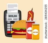fast food design  vector... | Shutterstock .eps vector #285434255