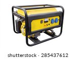 gasoline generator on white... | Shutterstock . vector #285437612