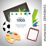 back to school graphic design ... | Shutterstock .eps vector #285438452