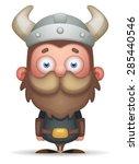 cartoon viking   Shutterstock .eps vector #285440546