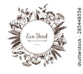 vector eco food card design... | Shutterstock .eps vector #285448556