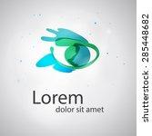 eye vision vector logo design...   Shutterstock .eps vector #285448682