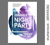 night party vector flyer... | Shutterstock .eps vector #285455282