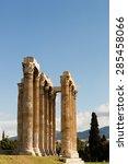 corinthian columns of zeus... | Shutterstock . vector #285458066