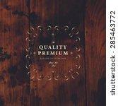 vintage frame for luxury logos  ... | Shutterstock .eps vector #285463772