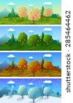 alpine meadow landscape of the... | Shutterstock .eps vector #285464462