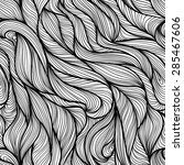seamless pattern with flow... | Shutterstock .eps vector #285467606