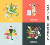 drugs design concept set with