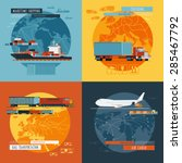 logistic maritime shipping and ... | Shutterstock .eps vector #285467792