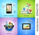 navigation design concept set... | Shutterstock .eps vector #285467795