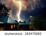 Thunderbolt Over The House With ...