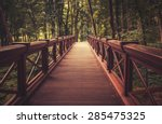 Old Wooden Bridge In  Deep...
