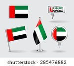 set of united arab emirates pin ... | Shutterstock .eps vector #285476882