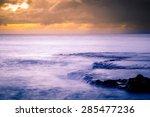 sunset at shark's cove beach... | Shutterstock . vector #285477236