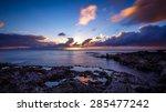 sunset at shark's cove beach... | Shutterstock . vector #285477242