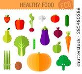 vector illustration of healthy... | Shutterstock .eps vector #285480386
