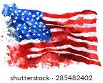 flag of america  hand drawn... | Shutterstock . vector #285482402